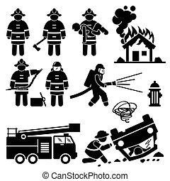 Feuerwehrmannsrettung.