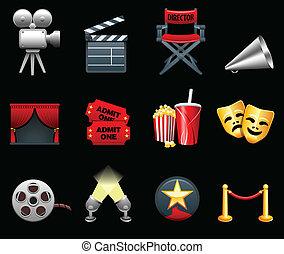 Film- und Filmindustrie-Ikonensammlung
