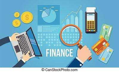 Financial Management Flat Design Illustration.