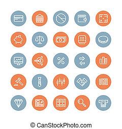 Finanzen und Business Flat Icons gesetzt