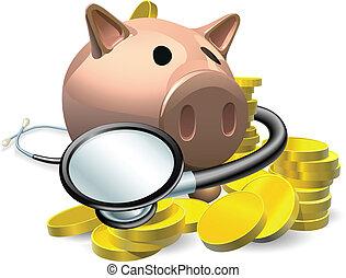 Finanzielles Gesundheitscheck-Konzept
