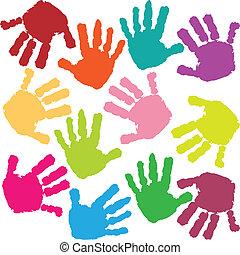 Fingerabdrücke des Kindes