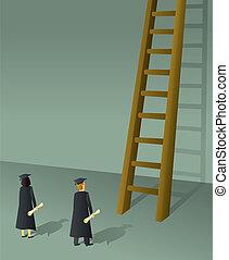 Firmenleiter-Absolventen