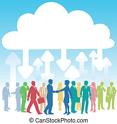 Firmenleute bewirtschaften IT-Wolke