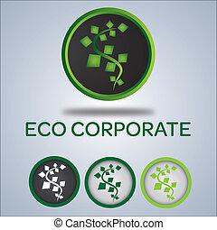 Firmenlogo, Ökologie-Logo.