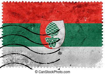 Flagge von Augsburg, alte Briefmarke.