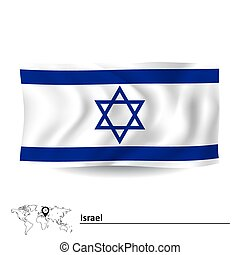 Flagge von Israel.