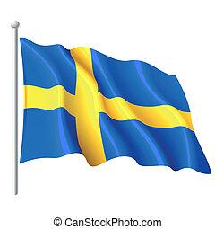 Flagge von Schweden.
