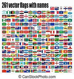 Flaggen der Welt.
