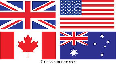 Flaggen englischer Länder