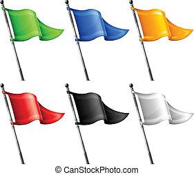 flaggen, satz, dreieck