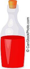 flasche, blut, hintergrund, abbildung, freigestellt, weißes, vektor