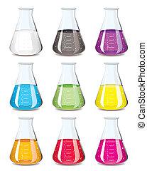 flasche, chemie, sammlung