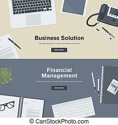 Flat design concept for business