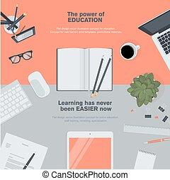 Flat Design Konzept für Bildung