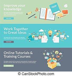 Flat Design Konzepte für Bildung