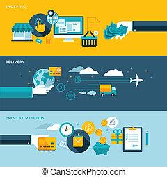 Flat Design Konzepte für E-Commerce