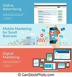 Flat Design Konzepte für Marketing