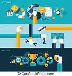 Flat Design Konzepte für Unternehmen
