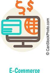 Flat Design Vektor Illustration Konzepte von Online-Zahlungsmethoden