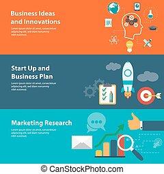 Flat Designkonzepte für Business, Finance, Planung, Marketingforschung