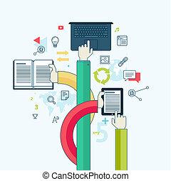 Flat Line Konzept für Bildung