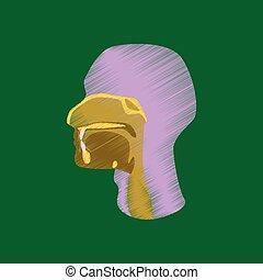 Flat Shading Style Icon pharynx.