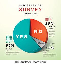Flat Style abstrakte Kuchen-Charts infographics.
