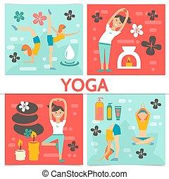 Flat Yoga Komposition.