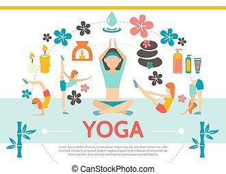 Flat Yoga Vorlage.