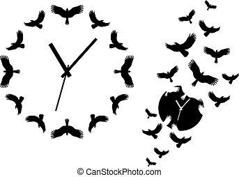 Fliegende Vögel, Vektor.