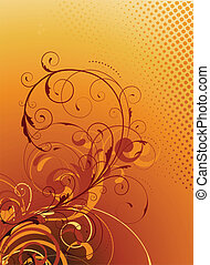 Floral dekorativer Hintergrund