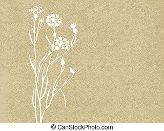 Floral Grunge Hintergrund. Vector