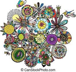 Floral Rahmen, Sketch für Ihr Design