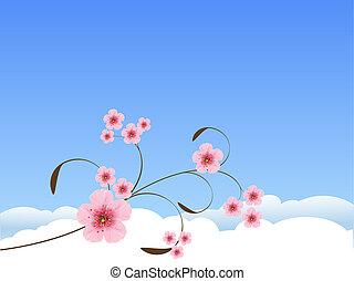 Floral Spring Hintergrund.
