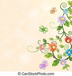 Florale Illustration.