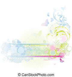 Floraler Hintergrunddesign