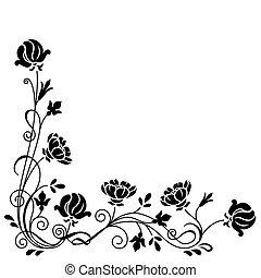 Florales Wirbelzweig.