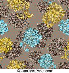 Floranisches nahtloses Muster im Retrostil
