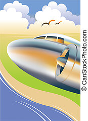 Flugzeug-Illustration
