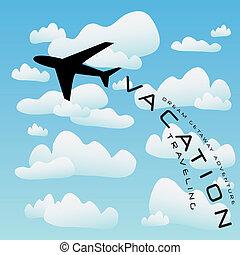 Flugzeugreisevektor