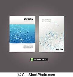 Flyer Brochure Hintergrundvorlage 020 Netzwerk-Verbindung Konzept.