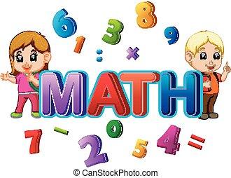 Font Design für Wort Mathe mit Student.
