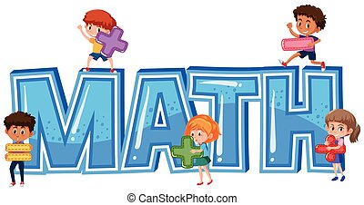 Font Design für Wort Mathematik mit Kindern