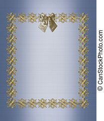 Formal-Einladung, blauer Satin