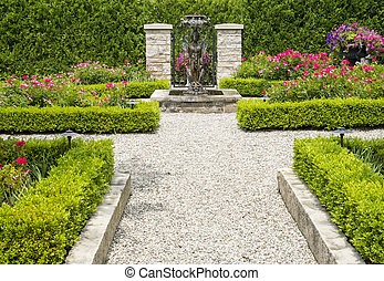 Formaler Garten.
