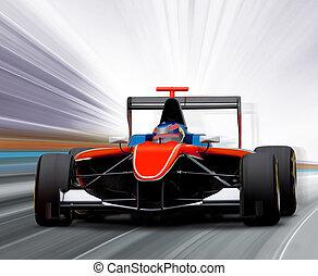 Formel eins Rennwagen
