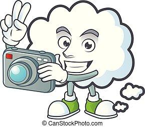 fotograf, ikone, denken, blase, design, wolke
