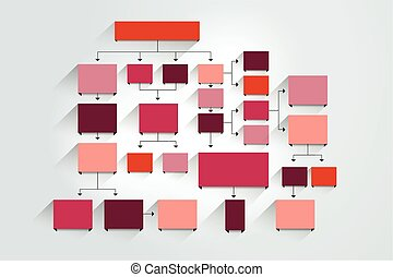 Fowchart, Diagramm, Schema, Diagramm, Vorlage, Infographic.