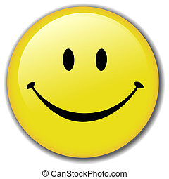 Fröhliche Smiley-Button-Abzeichen